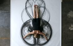 charcoal drawings with body | ... : Watch Heather Hansen Make Amazing Art with Her Whole Body (VIDEO