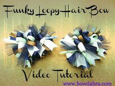 Funky Loop Bowdabra Hair Bow Tutorial