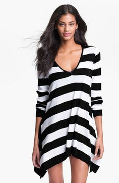 Tommy Bahama Stripe Sweater Cover-Up - just bought this in blue and white!!