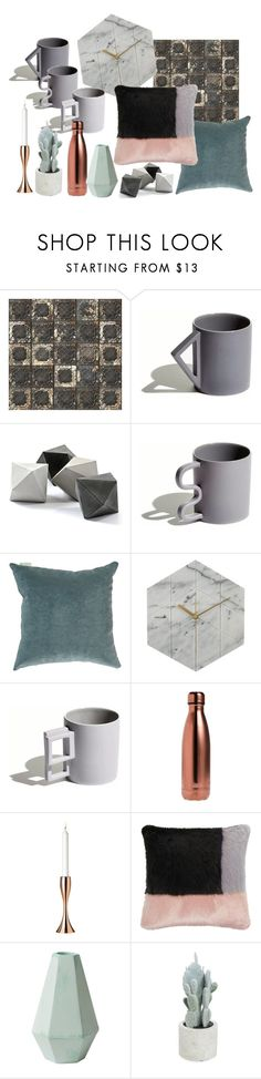 grey home by dodo85 on Polyvore featuring interior, interiors, interior design, home, home decor, interior decorating, S'well, Aandersson, NLXL and Helen Moore