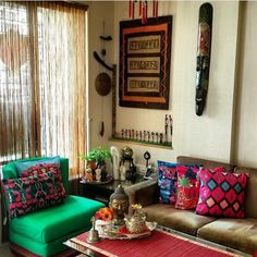 52 Winning Pics of MyDesiSwag 2018 Ethnic Home Decor, Indian Home Decor, Moroccan Decor, Indian Decoration, Indian Room, Boho Decor, Indian Style, Indian Home Interior, Indian Living Rooms