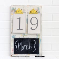 This is such an easy and fun DIY calendar! And who doesn't love a chalkboard?!