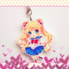 Sailor Moon keychain from Celios shop on Storenvy