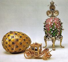 Peter Carl Faberge's Eggs  I love the one with the flowers