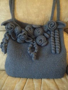 Carry all your crochet and knit goodies in this beautiful felted tote.