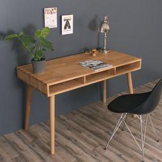 Boston skrivebord i massiv eg - Made in Denmark - design By Tika Boston, Office Desk, Dining Table, Denmark, Inspiration, Furniture, Design, Home Decor, Modern