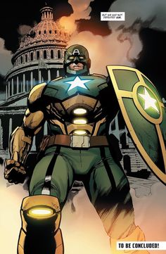 """While the heroic Steve Rogers remains trapped within the Cosmic Cube, Hydra-Cap's battle against The Avengers took a turn for the worst in Secret Empire when he debuted a new """"Captain Hydra"""" armour. Hydra Captain America, Captain America Super Soldier, Captain America Villains, Captain Hydra, Captin America, Hail Hydra, Comic Book Villains, Marvel Characters, Comic Books"""