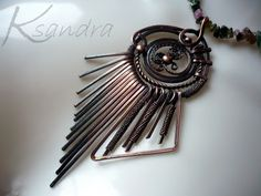 Copper necklace   Handmade jewelry by Ksandra