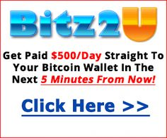 WOW! Get Paid $500/Day Straight To Your Bitcoin Wallet Without Lifting a Finger! This is AWESOME! Hurry and Click Here To Join Now! #bitz2u #passiveincome