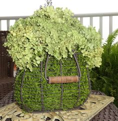 Rustic French Country Chic Dried Green Hydrangea by WindyHillAcre