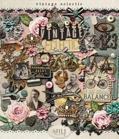 Vintage Eclectic Scrapbooking Layouts, Digital Scrapbooking, Fun Crafts, Paper Crafts, Mixed Media Art, Shabby, Clip Art, Art Cards, Cool Stuff