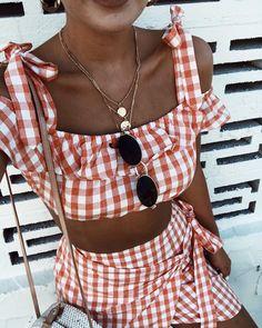 Cata Gingham Top & Skirt   #saboskirt