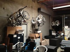 This is a picture of our warehouse in office! We don't send our wheelchairs from the US to those in developing countries but we do use this one quite often! Its a full house right now! www.freewheelchairmission.org