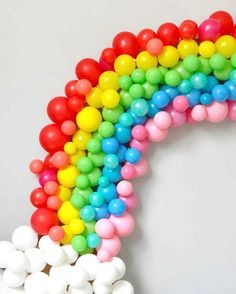 "10.3k Likes, 106 Comments - Martha Stewart (@marthastewart) on Instagram: ""This homemade rainbow balloon arch is the perfect Instagram photo backdrop. 🌈🌈🌈 Make one for your…"""