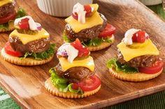 RITZ-Chipotle Cheeseburger Bites Recipe