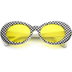 Retro 1990's rad clout goggle checkered colored lens oval sunglasses... ($14) ❤ liked on Polyvore featuring accessories, eyewear, sunglasses, lens sunglasses, wide glasses, checkered sunglasses, lens glasses and wide sunglasses