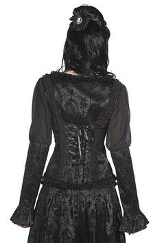 Haut blouse corset noir Gothique Banned