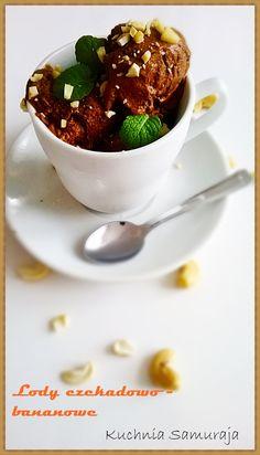 Lody czekoladowo - bananowe.