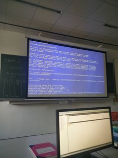 At my school during class. We are a technical school #bsod #pbsod