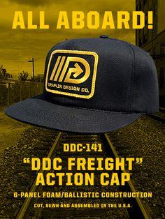 "Draplin Design Co.: DDC-141 ""DDC Freight"" Action Cap Draplin Design, Name Inspiration, Workwear Fashion, Vintage Designs, Action, Cap, My Style, Streetwear, Content"