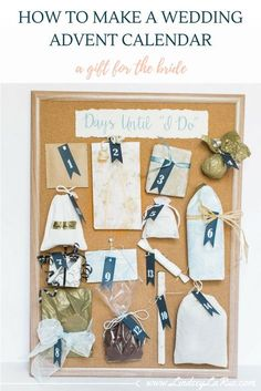 How to DIY a Wedding Advent Calendar for the Bride! The perfect gift from a bridesmaid, Maid of Honor, Matron of Honor, Best Friend, or Mother of the Bride! friend wedding gifts How to DIY a Wedding Advent Calendar Best Friend Wedding Gifts, Wedding Day Gifts, Wedding Gifts For Bridesmaids, Wedding Book, Wedding Ideas, Trendy Wedding, Wedding Venues, Wedding Planning, Wedding Present Ideas