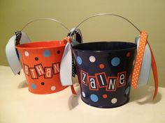Personalized Easter bucket 5 quart metal bucket LOTS by DeLaDesign, $20.00