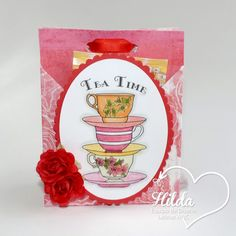 Latinas Arts And Crafts: Interpretaciones del tutorial #41 Tea cookie holder.