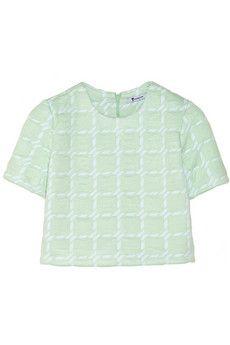 T by Alexander Wang Cropped neoprene-backed jersey top | NET-A-PORTER