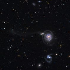 NGC 5745 and NGC 5752 (both galaxies are part of a quartet of galaxies known as Arp 297).  NGC 5754 is in the constellation Bootes, at a distance of roughly 200 million light-years