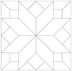 Free Printable to Paint Barn Quilt Patterns - Bing Quilt Square Patterns, Barn Quilt Patterns, Pattern Blocks, Square Quilt, Patchwork Patterns, Quilting Patterns, Sewing Patterns, Star Quilt Blocks, Star Quilts
