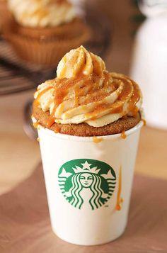 Pumpkin Spice Latte  Cupcake with Caramel - Creative Culinary