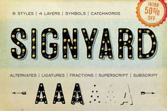 Signyard - Intro 50% Off by Albatross on Creative Market - http://crtv.mk/glxh - #typography #font #discountfont - pinned by www.amgdesign.co.nz