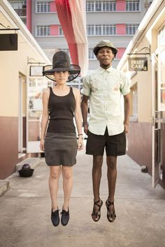 Designers Jenny Lai & Floyd Mantoane, February 2014. - Hat on Jenny is a collaboration with local Johannesburg milliner, Ms. Folake. #streetstyle #millinery