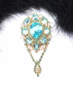 Gorgeous Czech Rhinestone Pin, Design by Jana