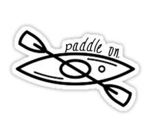 Kayak - Paddle On Sticker