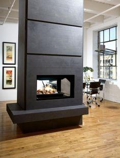 Hohe Kaminverkleidung modern Design