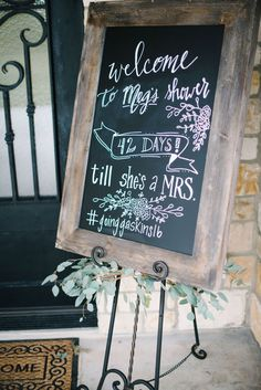 Southwestern-Boho Bridal Shower | Welcome Sign: A Pretty Perspective | Photo: Courtney Leigh Photography