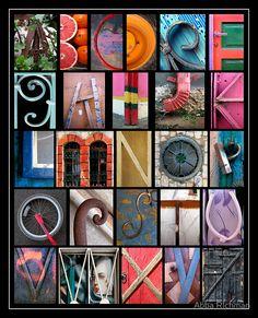 Coloured Alphabet Print' by Abba Richman