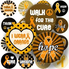 Leukemia Cancer Orange Ribbon