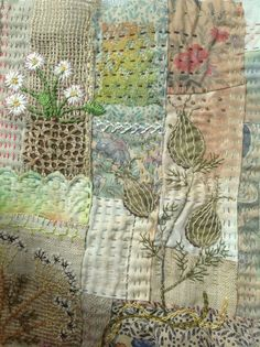 Scrap stitching.Debbie Irving