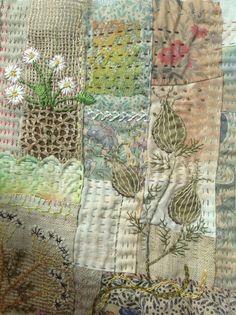 Scrap stitching.Debbie Irving