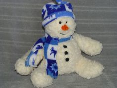 9  Gund  SWOOSH  SNOWMAN W/SNOWFLAKE SCARF & HAT Plush