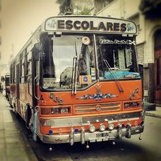 Bus escolar muy argentine (school bus very typical in Argentina). Culture and Tradition; in keeping with my memoir; http://www.amazon.com/With-Love-The-Argentina-Family/dp/1478205458