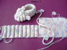 Knitted baby booties by Jonna Elvin The pattern comes from my mother . Knitted baby booties by Jonna Elvin The pattern comes from my mother size: months needle size 3 mm pos. Baby Booties Knitting Pattern, Crochet Baby Shoes, Crochet Baby Booties, Crochet Slippers, Baby Knitting Patterns, Baby Patterns, Knitting Socks, Crochet Patterns, Knitted Baby