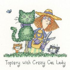 Topiary with Crazy Cat Lady