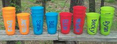 Personalized/Monogrammed Plastic Cup Set 4 by MSMudpieBoutique
