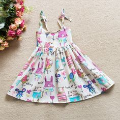 Girls' Clothing (Sizes 4 & Up) Toddler Kids Baby Girls Summer Dress Sleeveless Princess Party Pageant Dresses Kids Outfits Girls, Toddler Girl Dresses, Little Girl Dresses, Girl Outfits, Girls Dresses, Beach Dresses, Beautiful Summer Dresses, Casual Summer Dresses, Dress Summer