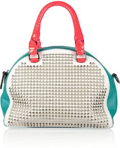 Small Studded Leather Bowling Bag - Lyst