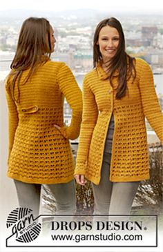 Ravelry: 143-12 Jackie - Jacket with lace pattern in Karisma pattern by DROPS design