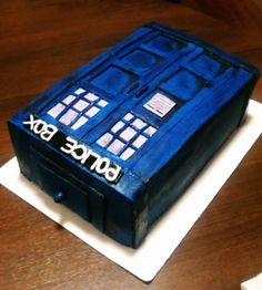 This is A Doctor Who Tardis Cake I made for a birthday party. Dr.Who Tardis.